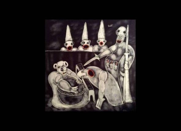 War is stupid, pintura de Tchalé Figueira