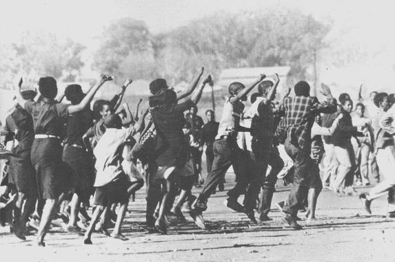 (Demonstrators in Soweto)