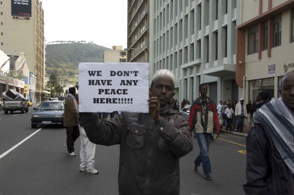 manifestação de somalis