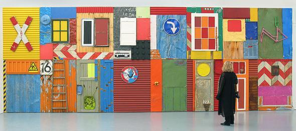 Township Wall 10 (2004) na exposição itinerante Africa Remix