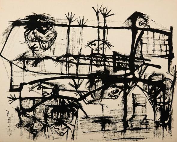 Bertina Lopes, Sem título, desenho, 1963