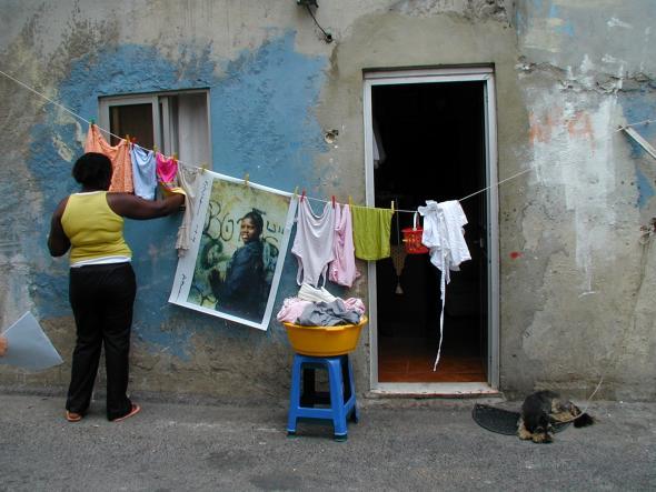 Intervenção de Susan Meiselas, Cova da Moura, 2005, Fotografia de CS.