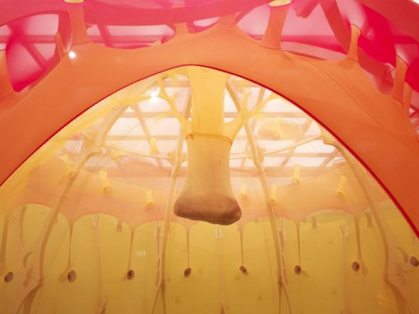 The Edges of the World by Ernesto Neto. Hayward Gallery, London, 2010