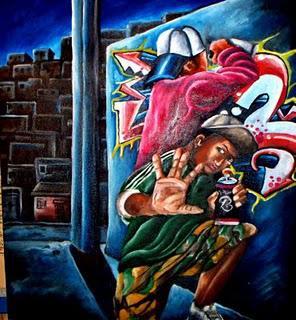 grafit, pintura de Dudu Rodrigues.