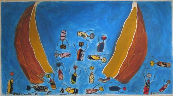 Naufrágio II. Ousmane Keita, 2008. Uma barcaça quebra-se e muitos dos nossos camaradas perdem a vida. Nesse dia não pude embarcar por falta de dinheiro. Foi sorte?