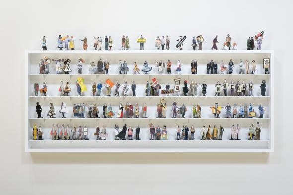 William Kentridge & Greta Goiris, The Nose Ensemble Costume Maquettes, 2009