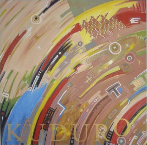 Made in Angola, acrílico s/ tela, 140 x 140 cm, 2010