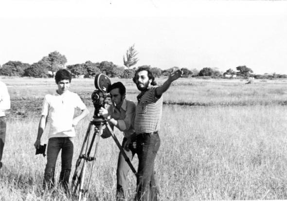 Lopes Barbosa em filmagem