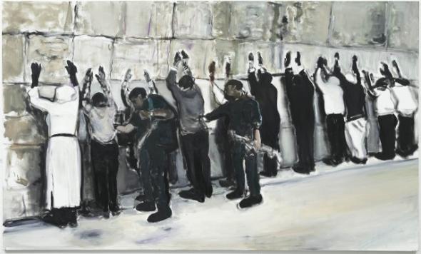 Marlene Dumas, Wall Wailing, 2009 óleo sobre tela, 180 x 300 cm