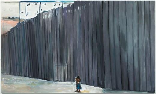 Marlene Dumas, Figure in a Landscape, 2009, óleo sobre tela, 180 x 300 cm