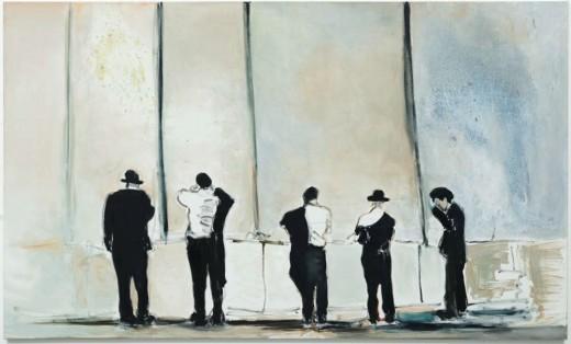 Marlene Dumas, Against the Wall, 2009 óleo sobre tela, 180 x 300 cm