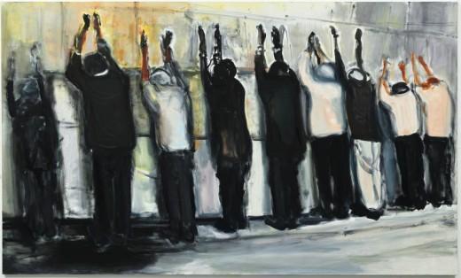 Marlene Dumas, Wall Weeping, 2009 óleo sobre tela, 180 x 300 cm