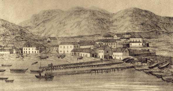 Instalações carvoeira inglesas, c. 1864
