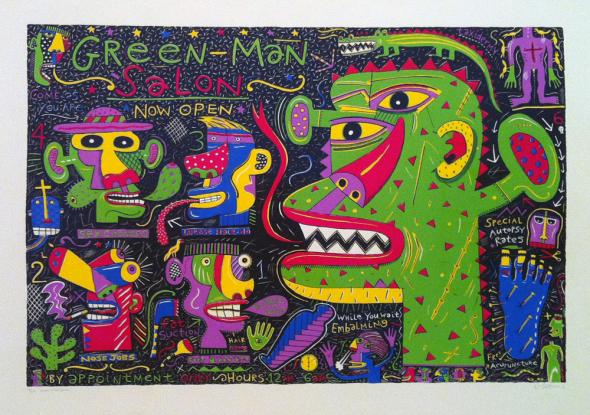Green Man Salon, Norman Catherine, 1990.