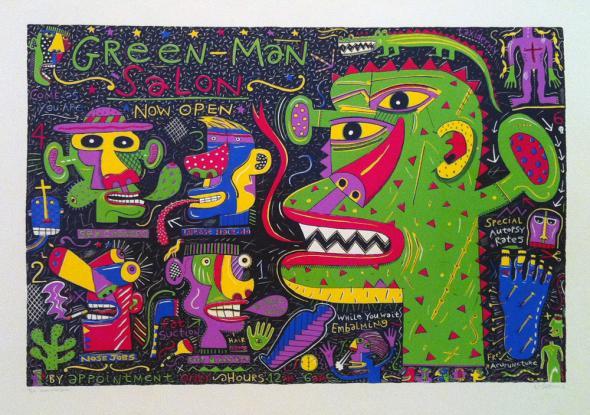 Green Man Salon, Norman Catherine, 1990.