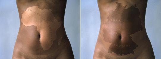 Ingrid Mwangi, Static Drift, 2001. Two chromogenic prints