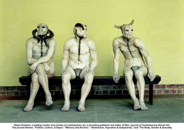 instalação de Jane Alexander, artista sulafricana, 'Butcher Boys', 1985-1986.