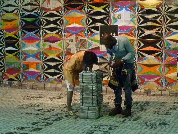 Yonamine, 'Os Mestres e as Criaturas Novas (Remixstyle)', 2010. Colecção Sindika Dokolo.