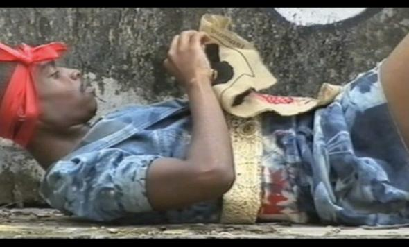 Miss Congo, 2007, 3 channel video, sound, 4 min 44 sec, edition of 8 + 2AP. Courtesy of the artist and Whatiftheworld Gallery, Cape Town
