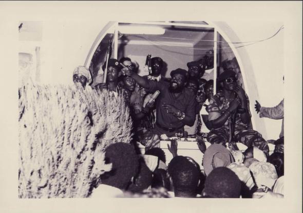 visita de Savimbi ao Donde. 29/01/1975