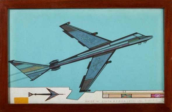 Tito Zungu, Avião, África do Sul, 1970