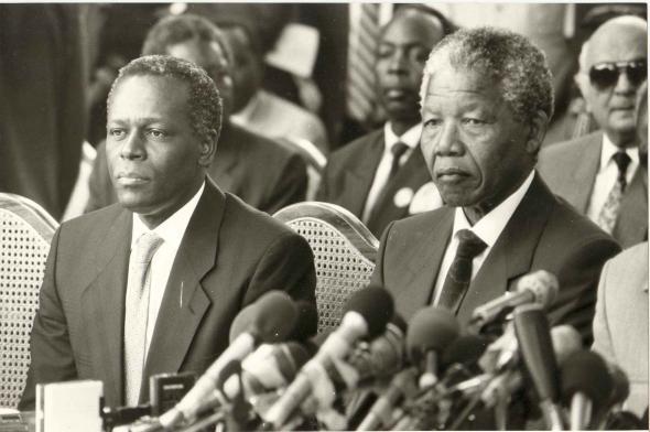 visita de Nelson Mandela Luanda, 11/05/1990