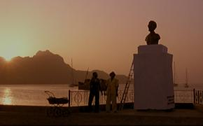 FIGURA 1 _ O busto de Cabral em seu pilastre.