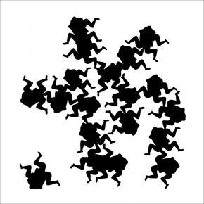 METASUTRA - Placa Cerâmica - faiança preto sobre branco - 20x20cm