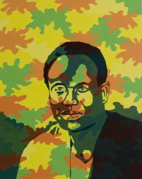 Ihosvanny. Kwame Nkrumah, 2006. Acrílico sobre tela, 89x100cm.