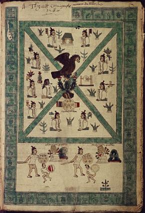 Fundação de Tenochtitlan, Codex Mendoza, Bodleian Library