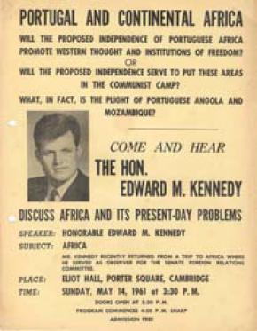 Anúncio de conferência de Edward Kennedy, 14 de Maio de 1961