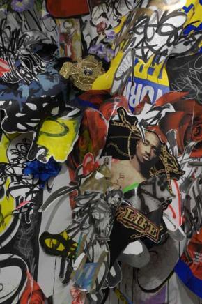 No Thief to Blame (Shinique Smith, 2007-08) - Pintura pertencente à exposição RECOGNIZE!