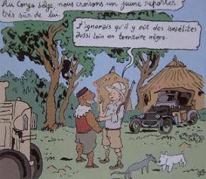 Tintin no Congo, cf Joann Sfar.