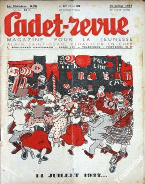 Alain de Saint-Ogan, capa de Cadet-revue de 15 de Julho de 1937.