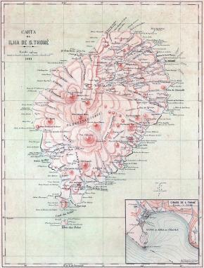 IICT, Carte de l'île de São Tomé 1901