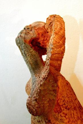 Escultura de Malenga, fotografia de Àlex Tarradellas Gordo.