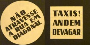 Cartazes em Lisboa, 1947. A espontaneidade do caminhar passou a estar regulado por um Código de Viação