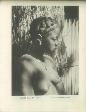 'Mulher balanta, Rosita', fotografia de Domingo Alvão reproduzida no Álbum Fotográfico da 1ª Exposição Colonial Portuguesa