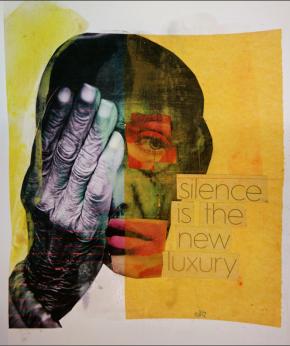 Alex da Silva (Xand). Liquid spirit, Técnica mista s/ papel preparado e epoxy, 27x35 cm, 2015
