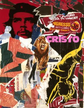Ana Hatherly, Descolagens, as Ruas de Lisboa,1977 Collage on paper and Platex, Col. CAM/ Fundação Gulbenkian Foundation Foto de José Manuel Alves Costa