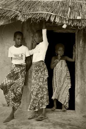 Aisha Augie-Kuta - Fulani girls print