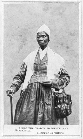 A ex-escrava Sojourner Truth não sabia ler nem escrever mas percebeu a força da imagem, Carte de Visite, c. 1864.