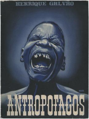 Book cover illustration by José Moura for Henrique Galvão's Antropófagos (1947). Illustration by José de Moura © José de Moura