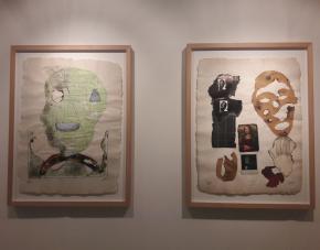 António Ole, Burned Expectations, 2015-2016. 50 Anos Vivendo, Criando, Instituto Camões, Luanda, 2017. Foto Ana Balona de Oliveira.