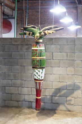Instalação de Kuta Ndumbu em Museu do Estrangeiro - Sesc Pompeia, São Paulo (2017)