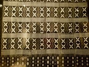 pormenor de Pano d'obra Bicho. Ilha de Santiago, Cabo Verde, adquirido em 1963, museu nacional de etnologia, escolha de João Vasconcelos (palavra Duração)