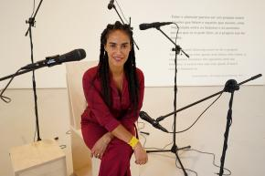 Grada Kilomba. The Most Beautiful Language. Foto José Frade/EGEAC. Cortesia de EGEAC.