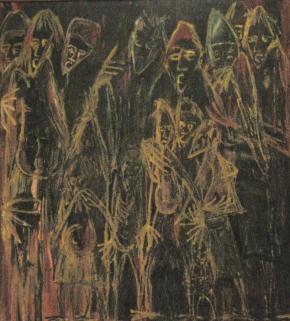 Mafalala, óleo s/unitex, s/d, Col.Museu Nacional de Arte, Maputo