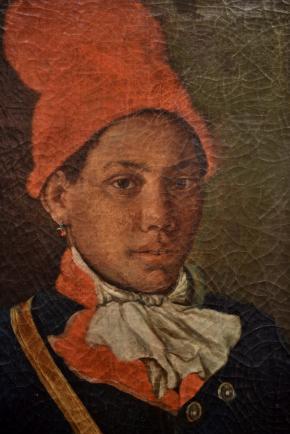 'Os Músicos' (pormenor), 1794, Morgado de Setúbal, exposto na Galeria Municipal do Banco de Portugal (Setúbal), propriedade NOVO BANCO.