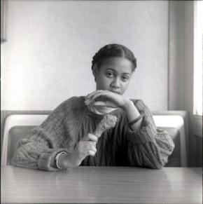 Black woman with chicken, Carrie Mae Weems